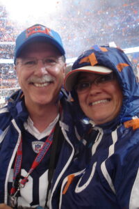 Ben Utecht Mom and Dad at Super Bowl